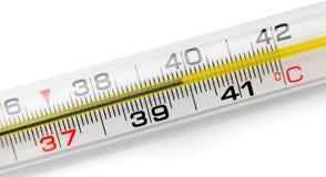 Изолированный термометр Меркурия, Стоковая Фотография
