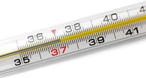 Изолированный термометр Меркурия, Стоковое фото RF