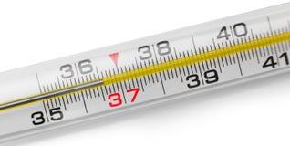 Изолированный термометр Меркурия, Стоковые Изображения