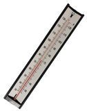 изолированный термометр ртути Стоковые Изображения