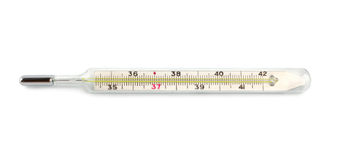 изолированный термометр Стоковые Фотографии RF