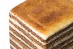 изолированный торт наслоенным стоковое изображение