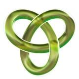 Изолированный узел петли 3D желтого трилистника представляет на белой предпосылке Бесплатная Иллюстрация