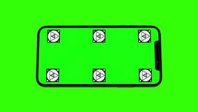 Изолированный умный телефон с зеленым экраном Стоковое Изображение