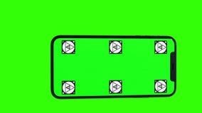 Изолированный умный телефон с зеленым экраном Стоковое Фото
