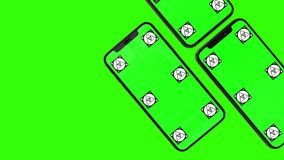 Изолированный умный телефон с зеленым экраном Стоковое Изображение RF