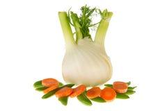изолированный фенхель морковей щелкает сахар Стоковые Изображения RF