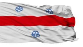 Изолированный флаг города Miercurea Ciuc, Румыния акции видеоматериалы