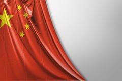 Изолированный флаг Китая развевая представленный флаг 3d реалистический Китая иллюстрация штока