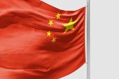 Изолированный флаг Китая развевая представленный флаг 3d реалистический Китая бесплатная иллюстрация