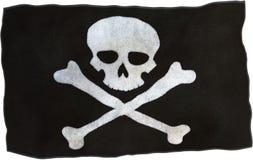 Изолированный флаг, опасность ткани пирата Стоковые Фото