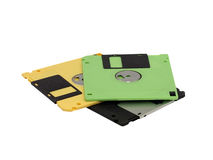 изолированный флапи-диск диска Стоковое Изображение RF