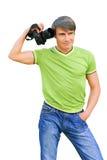 изолированный фотограф вертикально стоковые фото