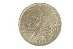 изолированный франчуз монетки Стоковое Изображение