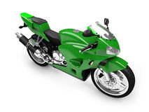 изолированный фронтом взгляд мотоцикла Стоковая Фотография RF