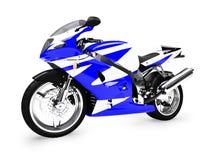 изолированный фронтом взгляд мотоцикла Стоковое Фото
