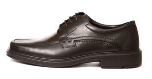 изолированный чернотой ботинок человека s Стоковая Фотография RF