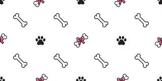 Изолированный шарф французского бульдога Валентайн сердца бабочки вектора картины косточки собаки безшовный кроет пинк черепицей  бесплатная иллюстрация