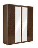 изолированный шкаф деревянный Стоковые Изображения