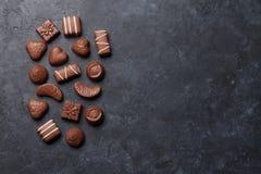 изолированный шоколадом трюфель помадок Стоковое Изображение