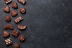 изолированный шоколадом трюфель помадок Стоковое Фото