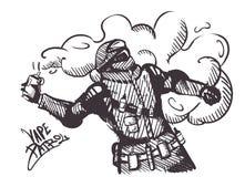 Изолированный ярлык патруля Vape эмблемы E-сигарета, силы специального назначения с электронной сигаретой вместо гранат дыма бесплатная иллюстрация