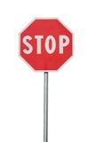 изолированный дорожный знак Стоковая Фотография