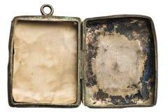 изолированный antique серебр locket Стоковое фото RF