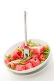 изолированный arugula арбуз салата Стоковое фото RF