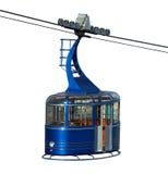 изолированный cablecar Стоковые Фото