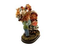 изолированный figurine детей стоковые фото