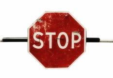 изолированный grunge стоп знака Стоковое фото RF