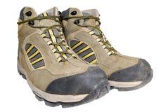 изолированный hiking ботинок стоковое фото rf