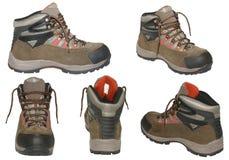 изолированный hiking ботинок Стоковое Изображение