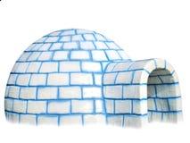 изолированный igloo стоковые фотографии rf