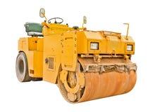 изолированный steamroller Стоковая Фотография