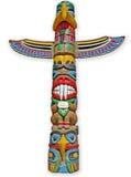 изолированный totem стоковая фотография rf
