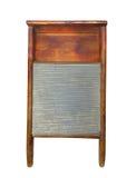 Изолированный washboard прачечного древесины и олова. Стоковая Фотография