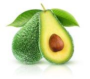 2 изолированных авокадоа стоковое фото rf