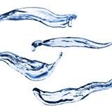 изолировано брызгает белизну воды Стоковое Изображение
