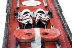 изолировано гребущ ботинки Стоковая Фотография RF