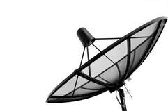 Изолировано с спутниковой антенна-тарелкой. Стоковое Фото