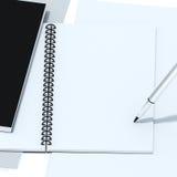Изолят тетради с путем клиппирования Стоковое Изображение RF