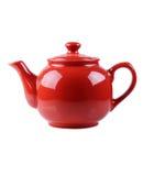 изолятd red teapot white Стоковые Изображения