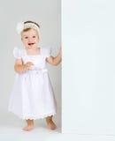 Изоляция студии младенческого ребенка стоковые изображения