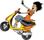 Изоляция motorcyclist Стоковое Фото