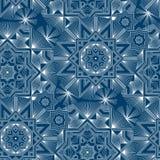 Изощренная современная линия картина снежинок стиля безшовная иллюстрация вектора