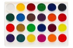 изолированная акварель красок Стоковые Фото