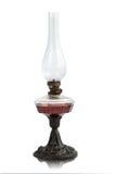 Изолированная лампа керосина на белизне Стоковая Фотография RF