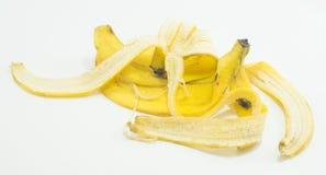 изолированная бананом белизна корки Стоковая Фотография